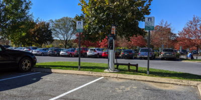 electric vehicle charging station at Penn Stater